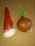 Живые Морковка и Репка из папье-маше, фото №10
