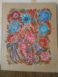 Образец росписи для кухонных досок медовая акварель. 1, фото №11