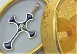 Крестик серебро 925 проба 3,45 грамма, фото №2
