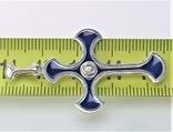 Крестик серебро 925 проба 3,45 грамма, фото №5