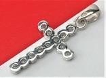 Крестик серебро 925 проба 1,29 грамма без пробы, фото №4