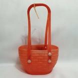 Корзинка кукольная сумочка детская игрушка СССР 24 см., фото №4