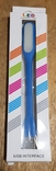 USB Лампа синяя (для powerbank, notebook), фото №2