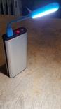 USB Лампа синяя (для powerbank, notebook), фото №5