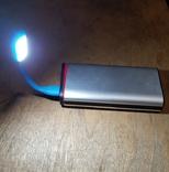 USB Лампа синяя (для powerbank, notebook), фото №6