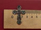 Серебряный крест с эмалями, фото №4