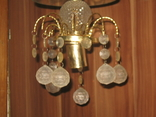 Винтажная люстра с зеркалом в ремонт, восстановление или назапчасти, фото №4
