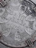 500 франков Западная Африка, 1972 г., переделанные в брелок, серебро, 39 гр., фото №9