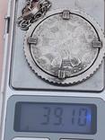 500 франков Западная Африка, 1972 г., переделанные в брелок, серебро, 39 гр., фото №10