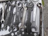 Рожковые ключи СССР 24 шт., фото №5