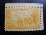 США. 1950 г. Калифорния. Быки. угловая MNH, фото №2