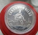 Канада 1 доллар 1975 г. Серебро. 100-летие города Калгари., фото №2