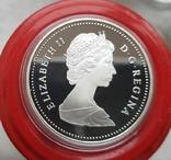 Канада 1 доллар 1986 г. Серебро. 100-летие Ванкувера. Паровоз. Елизавета II., фото №3