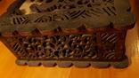 Деревянная шкатулка потомственной модистки. Пуговицы, пряжки,шпульки, крючки и пр. 1964 г, фото №7