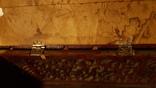 Деревянная шкатулка потомственной модистки. Пуговицы, пряжки,шпульки, крючки и пр. 1964 г, фото №11