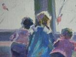 """В.Кнышевский.""""Снегири"""", х.м.,57*90см,1982г, фото №4"""