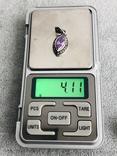 Серебряный кулон с аметистом и марказатами (серебро 925 пр, вес 4,1 гр), фото №4