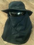 Черная шляпа - панама с шторкой (Usa), фото №4