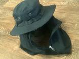 Черная шляпа - панама с шторкой (Usa), фото №2