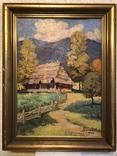 Иосиф Бокшай (младший) «Хатина в горах» 70х50, картон, масло 1976 г., фото №2