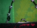 Сумочка атласная расшитая бисером и пайетками, фото №4