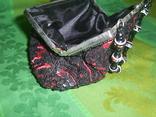 Сумочка атласная расшитая бисером и пайетками, фото №7