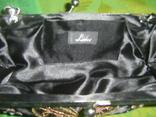 Сумочка атласная расшитая бисером и пайетками и вышивкой, фото №6
