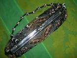 Сумочка атласная расшитая бисером и пайетками и вышивкой, фото №8