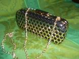 Сумочка на цепочке с позолоченным каркасом, фото №8