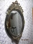Настенное зеркало барокко дерево грунт 105 cm x 57 cm винтаж, фото №4