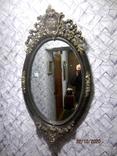 Настенное зеркало барокко дерево грунт 105 cm x 57 cm винтаж, фото №5