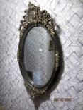 Настенное зеркало барокко дерево грунт 105 cm x 57 cm винтаж, фото №6
