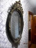 Настенное зеркало барокко дерево грунт 105 cm x 57 cm винтаж, фото №7