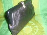 Клатч кожаный винтажный. с кожаной подкладкой 50- 60 е годы, фото №5