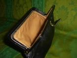 Клатч кожаный винтажный. с кожаной подкладкой 50- 60 е годы, фото №7