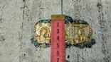 Серебряная икона триптих/ ДеИисус автомобильный, 925 + позолота, фото №3