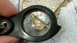 Серебряная икона триптих/ ДеИисус автомобильный, 925 + позолота, фото №7