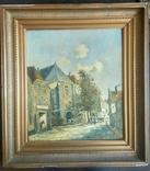 Неопознанный художник. Городской пейзаж. Начало 20 века, фото №2