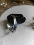 Серебряный комплект с жемчугом кольцо серьги, фото №11