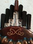 Шампура в настенном панно с чеканкой-головой барана, фото №4