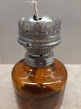 Керосиновая лампа СССР корпус цветное стекло, фото №7