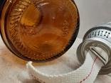 Керосиновая лампа СССР корпус цветное стекло, фото №10