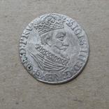 Гданьский грош 1623 года. SB под гербом. Сиг. ІІІ Ваза., фото №3