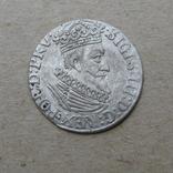 Гданьский грош 1623 года. SB под гербом. Сиг. ІІІ Ваза., фото №4