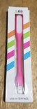 USB Лампа розовая (для powerbank, notebook), фото №2