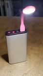 USB Лампа розовая (для powerbank, notebook), фото №7