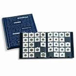 Альбом Leuchtturm, синего цвета для размещения 200 монет в холдерах, 345988