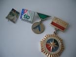 Значки  четыре- туризм СССР =руководитель 10 походов,класс сложности и т.д., фото №2