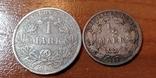 Лот монет Германии 1 марка 1915 г. и пол-марки 1906 г., фото №2