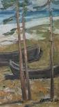 *Подготовка к путине*Х/м, 90*65 Заслуж.худ.Украины Потапенко А.И.1987г, фото №3